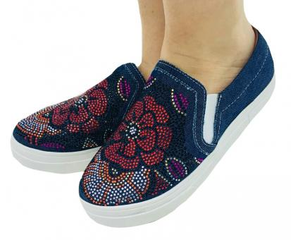 1000 Slip On Jeans/ Hot Fix Color - Código 2470-4-46